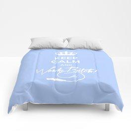Keep Calm and Work B**ch. Comforters