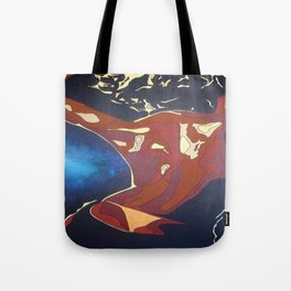 Backview of A Young Woman Dancing In A Night Club Tote Bag