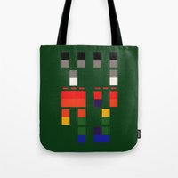 coldplay Tote Bags featuring I Will Try To Fix You by Adel