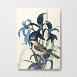 Little Bird and Flowers II Metal Print