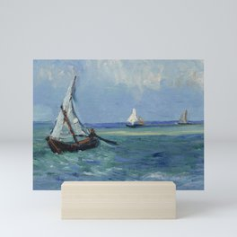 Seascape near Les Saintes-Maries-de-la-Mer Mini Art Print