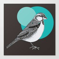 sparrow Canvas Prints featuring Sparrow by Rachel Russell