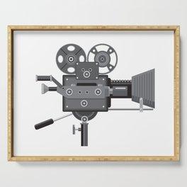 Vintage Movie Film Camera Retro Serving Tray