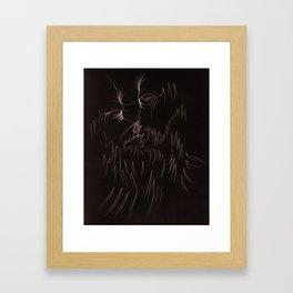 Face Illustration 7 Framed Art Print