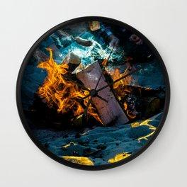 Fire and Smoke Wall Clock