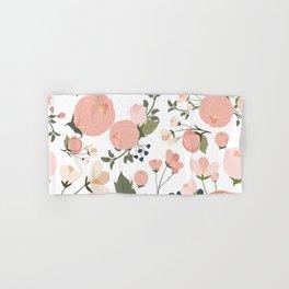 Pink Flower Pattern Hand & Bath Towel