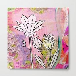 Pod and Daffodil Garden Metal Print