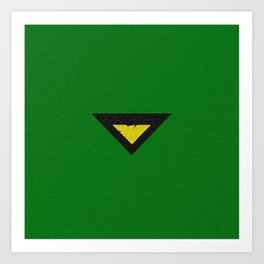 Green Phoenix Symbol Art Print
