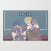 jojo Canvas Prints featuring JoJo by kosheko