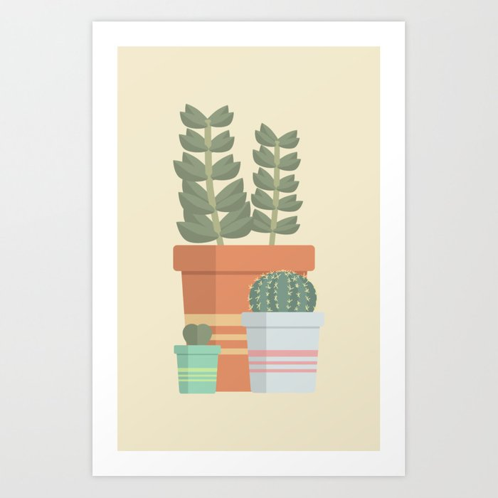 A collection of succulents Art Print