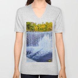 Monk's waterfall Unisex V-Neck