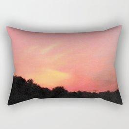 Sunset On Fire Rectangular Pillow