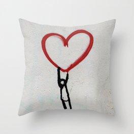 heart wall Throw Pillow