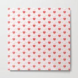 Sweet Red Apple Slices Pattern Metal Print