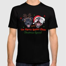 Harry Banks Show Christmas Special  Black MEDIUM Mens Fitted Tee
