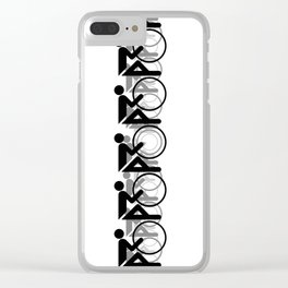 The Bicycle Race 2 Black On White Border Clear iPhone Case