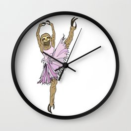 Sloth Ballerina Tutu Wall Clock
