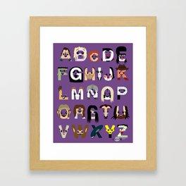 Horror Icon Alphabet Framed Art Print