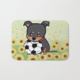 Charlie pup, Black Terrier pup Bath Mat