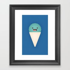 Snow Cone Framed Art Print