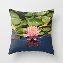 Pink & Green Throw Pillow