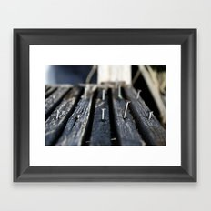 Nails Framed Art Print