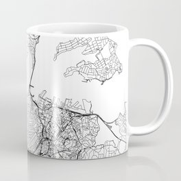Auckland White Map Coffee Mug