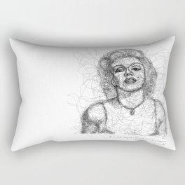 Marylin Monroe in Lines Rectangular Pillow