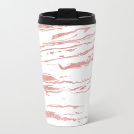 Modern abstract pink marbleized paint. Travel Mug