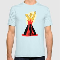 Volcano Light Blue SMALL Mens Fitted Tee