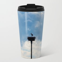 A Stork among the Clouds Travel Mug