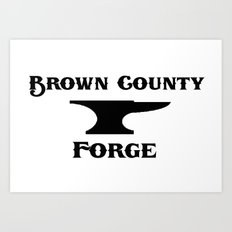 Brown County Forge Simple Logo Art Print