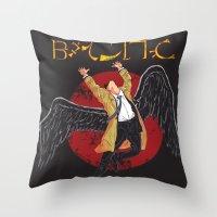 led zeppelin Throw Pillows featuring Cas Zeppelin by DiHA