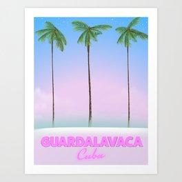 Guardalavaca Cuba travel poster. Art Print