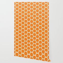 Orange Honeycomb Wallpaper