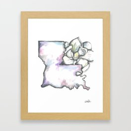 Louisiana Magnolia  Framed Art Print