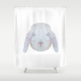 Bunny Portrait Shower Curtain