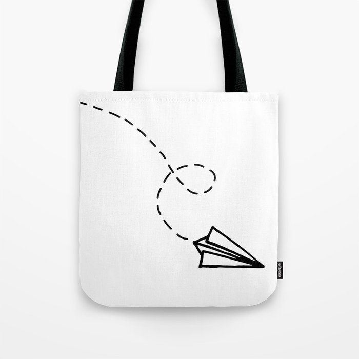 Send It Simple Paper Airplane Drawing Tote Bag By Stopthepresses