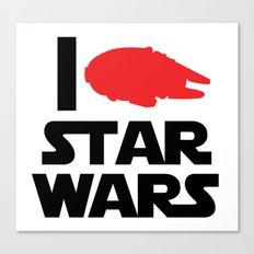 I Heart Star Wars Canvas Print