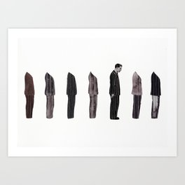 Pin Striped Week Art Print