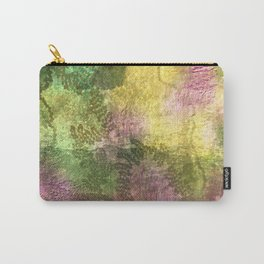 Snail trails on colorful bark Carry-All Pouch
