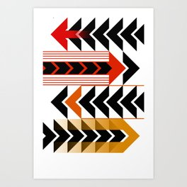 Colourful Arrows Graphic Art Design Art Print