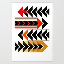 Colourful Arrows Graphic Art Design Art Print
