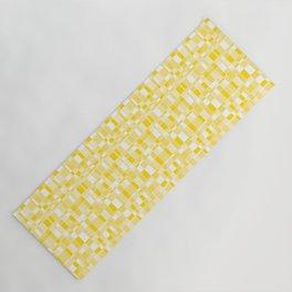 Mod Gingham - Yellow Yoga Mat