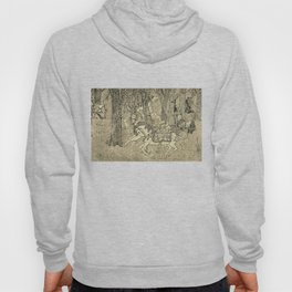 Carousel In Woods: Fantastical Landscape with Merry - Go - Round Hoody