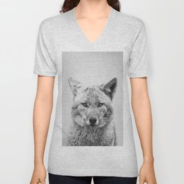 Coyote - Black & White Unisex V-Neck