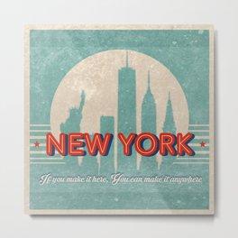 New York Vintage Metal Print