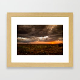 West Texas Sunset - Colorful Landscape After Storms Framed Art Print