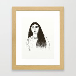 Hoda Framed Art Print