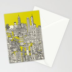 Hong Kong toile de jouy chartreuse Stationery Cards